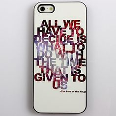 The Lord of the Rings Design Aluminum Hard Case for iPhone 4/4S    – USD $ 3.99