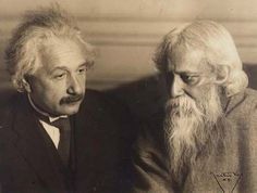 Albert Einstein and Sir Rabindranath Tagore, Germany, early 1930s -by Martin Vos Einstein and Tagore met in Germany (Kaputh and Berlin) on 4 occasions between 1930 and 1931. This photo was not taken in New York as it is sometimes said (an article relating the first meeting was published in the New York Times). More puzzling is the dating of the photo as 1925 in Life. [ref.: NY Times] Anyhow, this is an opportunity to post this exchange about music and art I found interesting:  TAGORE: ...