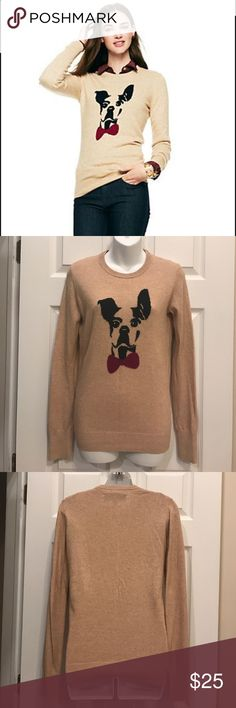 C Wonder Dog Sweater Excellent condition. Size extra small. Cream color, black dog and pink bow. C Wonder. C Wonder Sweaters Crew & Scoop Necks