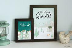 Zimowe plakaty do wydrukowania ( kartki świąteczne)