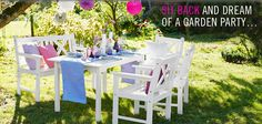Sit back and dream of a #garden #party