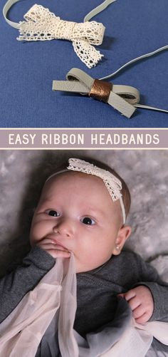 Click to learn how to make easy ribbon headbands or hair clips! this simple bow making template doesn't even need a template - just use strips of leather, fabric, or ribbon Diy Fashion Accessories, Flower Hair Accessories, Leather Scraps, Leather Fabric, Ribbon Headbands, Bow Making, Fabric Bows, Little Bow, How To Make Diy