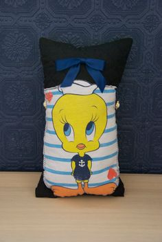 Tweety Bird Pillow by GhanemGirl on Etsy, $10.00