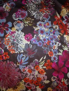 Vintage floral print by Luli Sanchez, textile designer