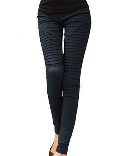Fashion Drape Slim Elastic Pencil Pants Women's Leggings on buytrends.com
