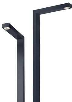 Lampadaire urbain / contemporain / en métal / à LED CUBICA Lumieres de France