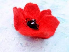 Poppy Brooches, Flower Brooch, Hair Pins, Poppies, Flowers, Gifts, Handmade, Etsy, Vintage