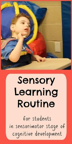 Video demonstration of sensory learning routine for students in the sensorimotor stage of cognitive development Autism Activities, Sensory Activities, Therapy Activities, Classroom Activities, Life Skills Classroom, Special Education Classroom, Early Education, Kids Education, Sensory Motor