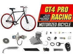 Silver 80cc 2-Stroke Petrol Gas Motor Engine Kit DIY Motorized Bicycle Bike QS Elektrofahrräder