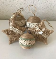 Set of 5 Twine Ornaments for Rustic Christmas Decor Country Country Christmas . Set of 5 Twine Ornaments for Rustic Christmas Decor Country Country Christmas Decoration Housewarming Gift Star Ornament. Christmas Farm, Rustic Christmas Ornaments, Country Christmas Decorations, Christmas Trees, Christmas Budget, Etsy Christmas, Primitive Christmas, Father Christmas, Felt Christmas
