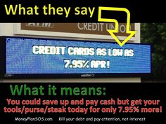Cash is cheaper than credit cards. Period!