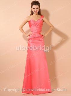 One Shoulder Design Long #Evening #Gown