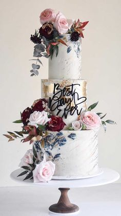 wedding cakes unique The 50 Most Beautiful Wedding Cakes, wedding cake ideas, amazing wedding cake wedding cakes cakes elegant cakes rustic cakes simple cakes unique cakes with flowers Creative Wedding Cakes, Fall Wedding Cakes, Elegant Wedding Cakes, Elegant Cakes, Beautiful Wedding Cakes, Wedding Cake Designs, Wedding Cupcakes, Beautiful Cakes, Wedding Cake Tables