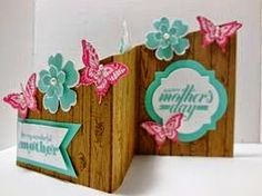 Peanuts and Peppers Papercrafting: Try It Thursday - Stampin' Up! Hardwood Mother's Day Card