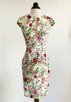 Floral dress spring flower dress summer dress vintage by Valdenize