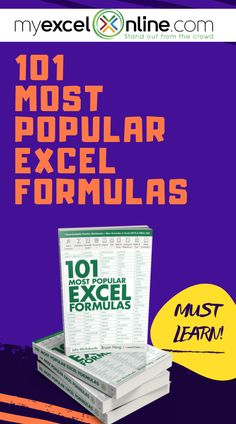 MyExcelOnline Excel E-books Excel Budget Template, Dashboard Template, Excel Cheat Sheet, Microsoft Excel Formulas, Excel Macros, Excel For Beginners, Windows Office, Pivot Table, Office Programs
