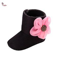 Bébé Garçons Nourrissons Lacets Crib Chaussures d/'hiver bébé jean Bottes Décontractées Prewalker