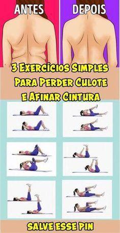 Comandante Castro ll. 3 Exercícios Simples Para Perder Culote e Afinar Cintura! Fitness Workouts, Easy Workouts, Yoga Fitness, At Home Workouts, Fitness Motivation, Health Fitness, Training Workouts, Enjoy Fitness, Fitness Classes