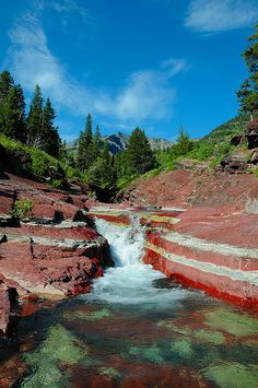 Red Rock Canyon in Waterton Lakes National Park.