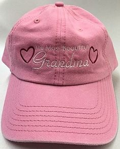ccc450ed6ce (H-GMA) The most beautiful Grandma - Embroidered Baseball Hat Mothers Day  Gift
