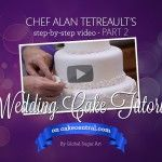 Chef Alan Tetreault of Global Sugar Art demonstrates how to make your own three tiered wedding cake. In this Part 2 of 2, Alan teaches you how to accent your finished borders and complete the cake with gumpaste flowers.