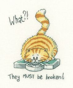 """Home is where the cat is (CRHC954)  Cat cross stitch kit based on the work of Peter Underhill and produced by 'Heritage Crafts'. Part of the Cats Rule series of designs.  Contents: 14 countaida or 27 count evenweave fabric, DMCstranded cottons, chart, needle and full instructions.  Approx size: 27cm x 16.5cm (10.5"""" x 6.5"""")  DELIVERY DETAILS: - Please allow upto 7 working days for dispatch."""