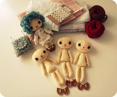 Button Eyes Rag Dolls by Gingermelons