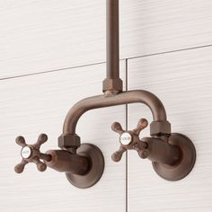Baudette Exposed Pipe Wall-Mount Shower With Rainfall Shower Head - Showers - Bathroom Shower Remodel, Wall Mounted Tv, Outdoor Kitchen Sink, Rainfall, Rainfall Shower, Bronze Faucet, Custom Tile Shower, Wall Mount, Shower Heads
