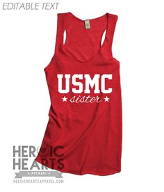 I told Jami they need one made for a man and she limed that thought! I Love My Tattooed Marine Racerbank Tank Airforce Wife, Navy Girlfriend, Military Girlfriend, Military Spouse, Firefighters Girlfriend, Marine Sister, Firefighter Apparel, Firefighter Family, Just In Case