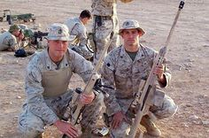 U.S. Marine Sgt. David Coullard, right, of East Hartford, Conn., is shown with another unidentified Marine in a photo sent to his mother July 30, 2005, taken somewhere just outside Baghdad. Coullard was a member of the 3rd Battalion, 25th Marines based in Ohio. He and five others died northwest of Baghdad while on sniper duty on Monday, Aug. 1, 2005. Afghanistan War, Iraq War, Usmc, Marines, Marine Bases, East Hartford, C Ops, Us Marine Corps, Baghdad