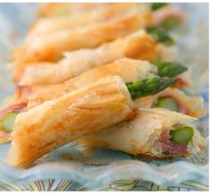 Asparagus and phyllo appetizers