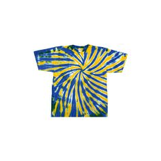 Gold and Blue Tie Dye T-Shirt found on Polyvore