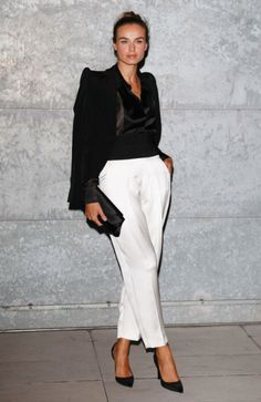 MFW. Kasia Smutniak attends Giorgio Armani Spring/Summer 2013 fashion show.
