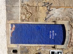 Lisbon -  Portugal     Blue Door: There Exists A Delicious Incertitude
