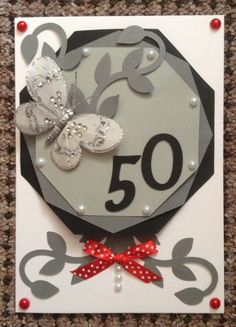 Handmade 50th card