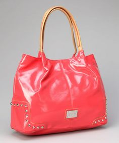 Take a look at this Coral Studded Tote by Kenneth Cole Reaction on #zulily today!