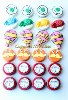Online Shipping! Dr Seuss Birthday Baby Shower chocolate covered Oreos Cookies by CupcakeNovelties on Etsy