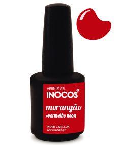 Verniz de Luxo - Inocos Verniz Gel 15ml Morangão (Vermelho Neon)