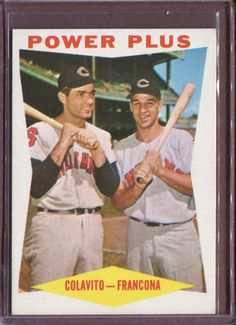 Lifelong friends, Rocky Colavito and Tito Francona share a 1960 Topps baseball card.