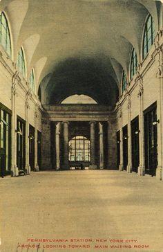 the arcade, looking towards main waiting room