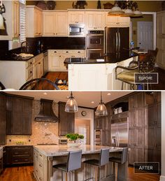A modern - traditional kitchen perfect for entertaining. Check out this renovation success story on masterbrand.com.