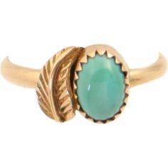 14K Gold Turquoise Ring with Southwestern Styling Handcrafted... ($185) ❤ liked on Polyvore featuring jewelry, rings, 14 karat gold jewelry, gold jewellery, gold jewelry, 14k yellow gold ring and turquoise jewelry