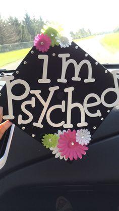 Psychology graduation cap decoration. #aka #sorority #college