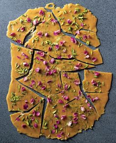 Pistachio–rose brittle recipe from Malouf by Greg Malouf | Cooked