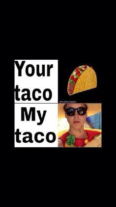 I luv my taco! Me As A Girlfriend, My Boyfriend, Guys And Girls, My Boys, Macon Boys, Bae, Matt Espinosa, Magcon Family, Aaron Carpenter