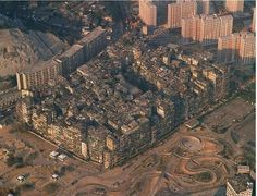 Bill ✔️ Kowloon Walled City, Kowloon, Hong Kong. This infamous and largely lawless development reigned in the area for many years, (1835 until 1994) but has now been demolished and replaced by a lovely park.     Bill Gibson-Patmore.  (curation & caption: @BillGP). Bill✔️