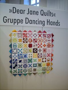 """I LIKE THIS ! A SAME SIZE BLOCK BUT SMALL VERSION OF JANE. THIS MIGHT BE DO-ABLE. """"Dear Janes little sister"""" by Ulrike Knickrehm Dancing Hands"""
