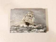 Lara Fords version of Charles Vickery's Clipper Ship Stormy Sea, Artworks, Ford, Ship, Painting, Painting Art, Ships, Paintings, Painted Canvas