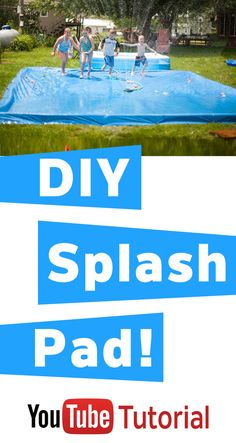"""Easy way to DIY a Splash Pad to """"contain"""" the water when you use the sprinkler! Hours of fun! Great for the littles!"""