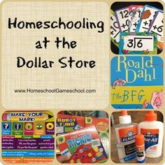 Homeschooling at the dollar store! You can find all sorts of science and art supplies for just $1! #homeschool